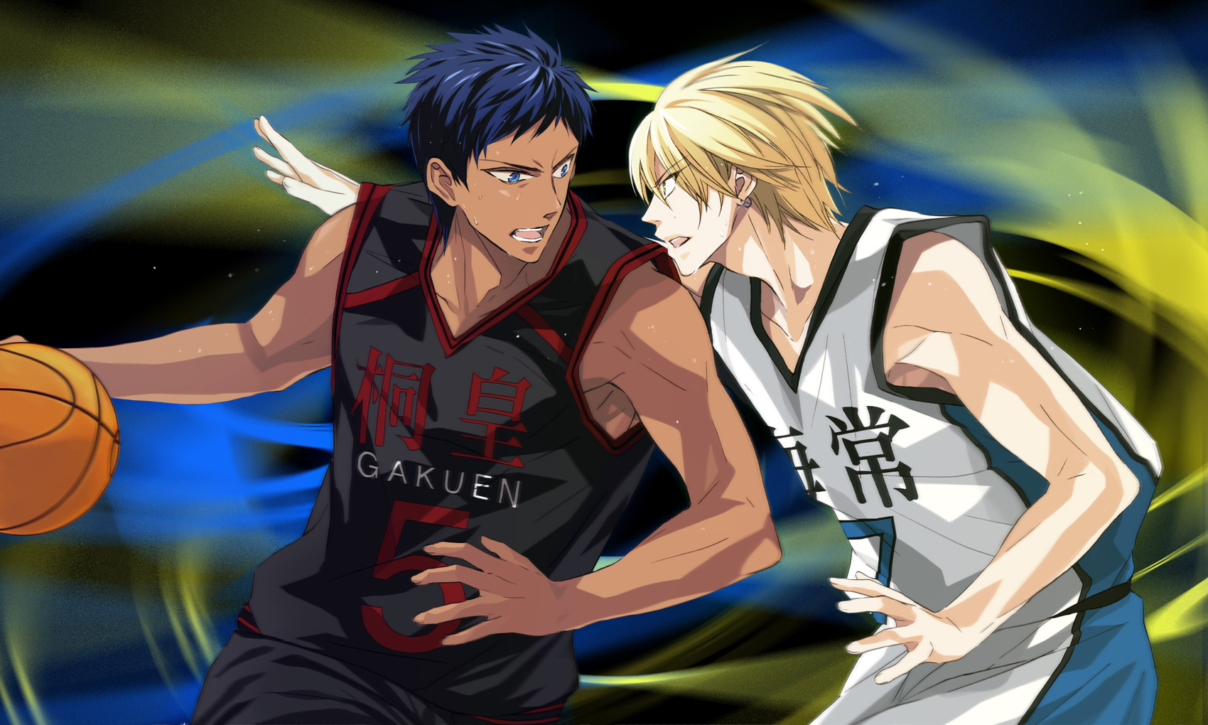 the gallery for gt kuroko no basket kise vs aomine