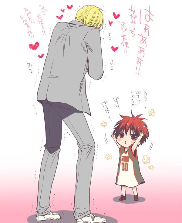 Mishima kuroko no basuke kise ryouta kagami taiga basketball