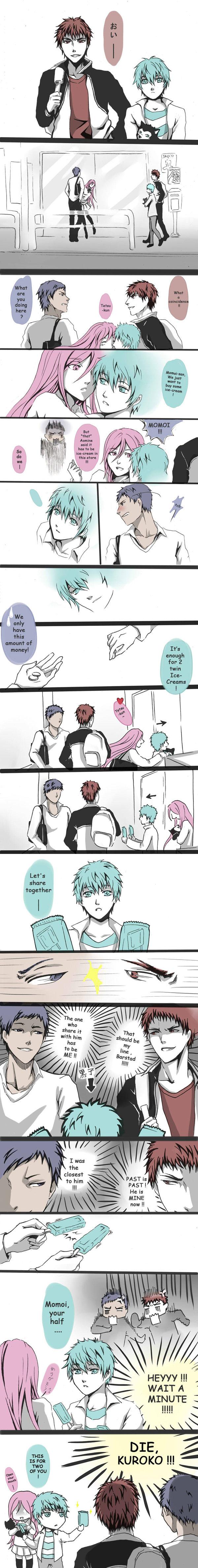 Tags: Anime, Pixiv Id 1408107, Ha2693 (Artist), Kuroko no Basuke, VOCALOID, Aomine Daiki, Kagami Taiga, Hatsune Miku, Kuroko Tetsuya, Tetsuya No.2, Momoi Satsuki, Comic, Kuroko's Basketball