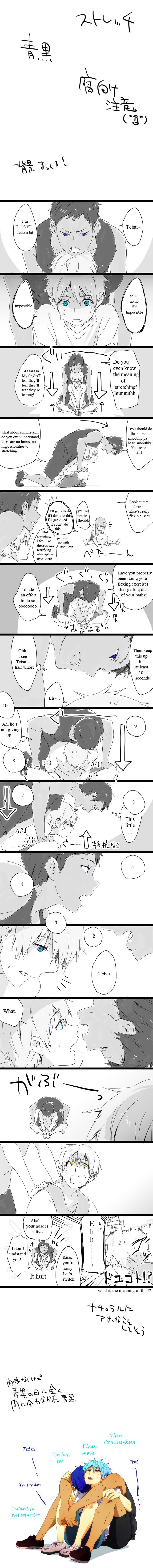 Tags: Anime, Tsukimushi, Kuroko no Basuke, Akashi Seijuurou, Aomine Daiki, Kuroko Tetsuya, Kise Ryouta, Pixiv, Comic, Translated, Manga Page, Kiseki no Sedai, Kuroko's Basketball