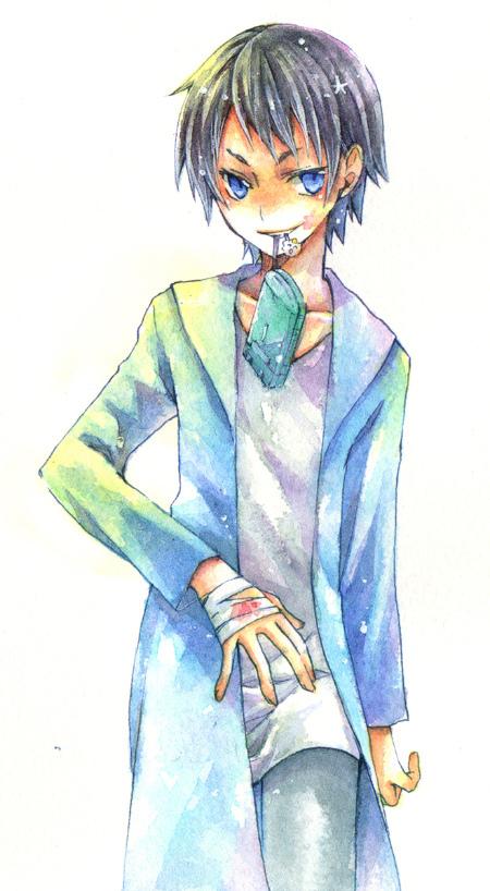 Tags: Anime, Nagino Hiiragi, DURARARA!!, Kuronuma Aoba, Pixiv, Fanart