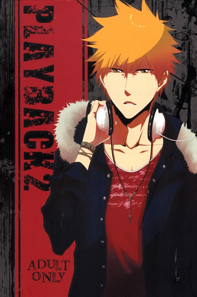 Tags: Anime, Pixiv Id 961410, BLEACH, Kurosaki Ichigo, Headphones Around Neck