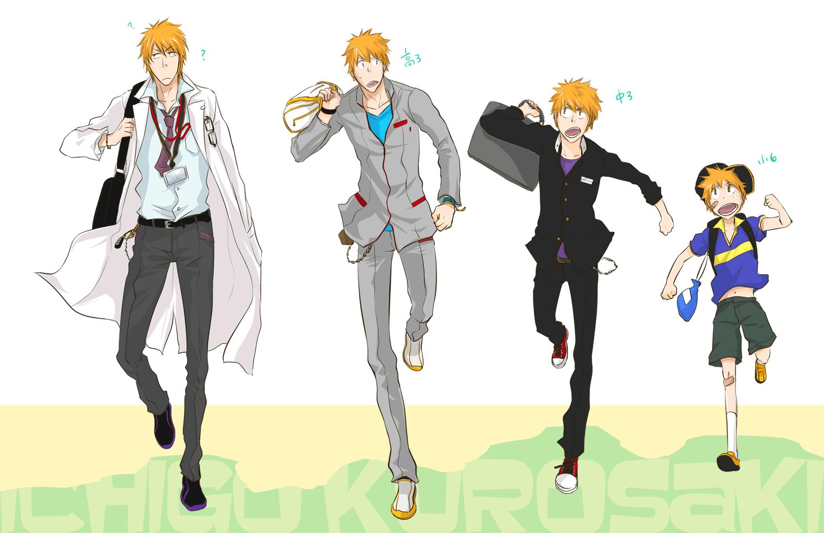 Anime Characters Age : School uniform bleach zerochan anime image board