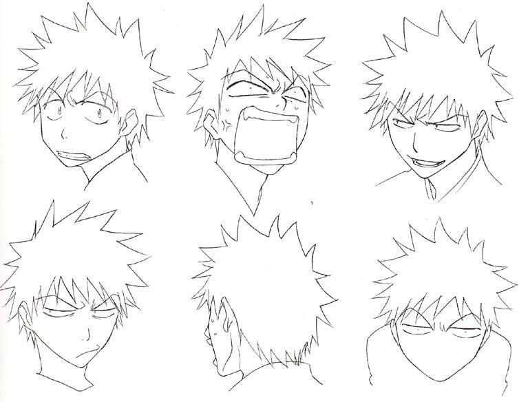 Рисуем персонажей аниме блич