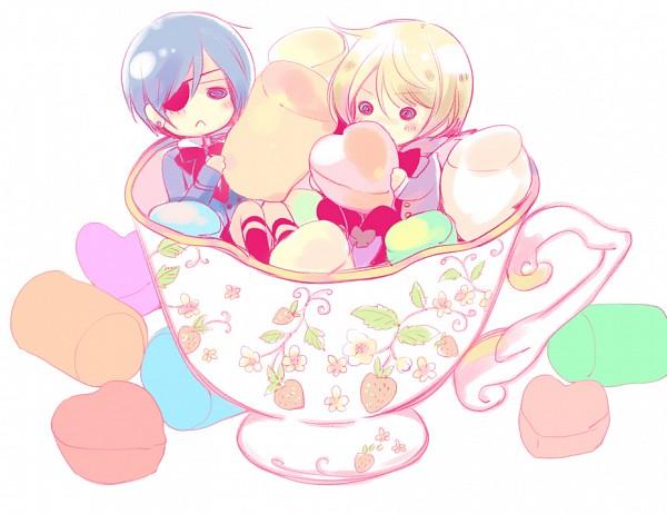 Tags: Anime, Yamada Ako, Kuroshitsuji, Alois Trancy, Ciel Phantomhive, Tea, Marshmallow