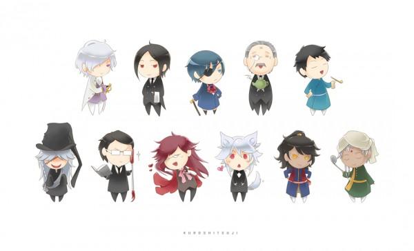 Tags: Anime, Nux, Kuroshitsuji, Undertaker, Prince Soma Asman Kadar, Grell Sutcliff, Angela/Ash