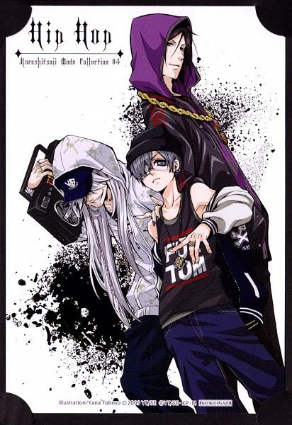 Tags: Anime, Toboso Yana, SQUARE ENIX, Kuroshitsuji, Undertaker, Ciel Phantomhive, Sebastian Michaelis