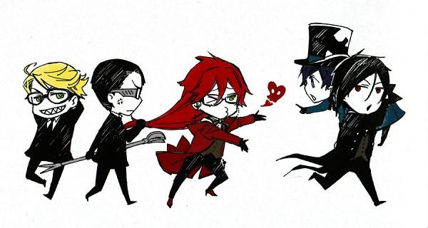 Tags: Anime, Kuroshitsuji, Sebastian Michaelis, Ciel Phantomhive, Grell Sutcliff
