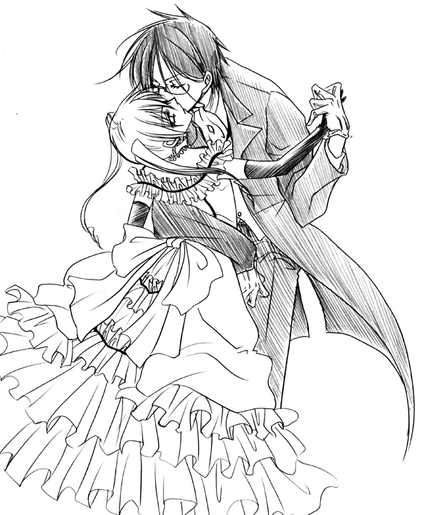 Tags: Anime, Naokichi., Kuroshitsuji, Sebastian Michaelis, Lady Phantomhive, Ciel Phantomhive, Black Butler