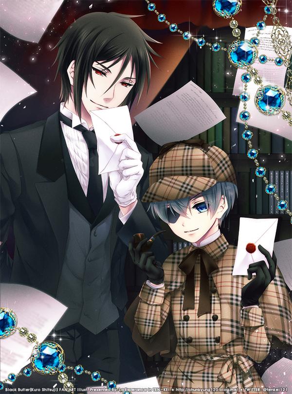 Tags: Anime, Arin1201, Kuroshitsuji, Ciel Phantomhive, Sebastian Michaelis, Fanart From Pixiv, Fanart, Pixiv, Black Butler