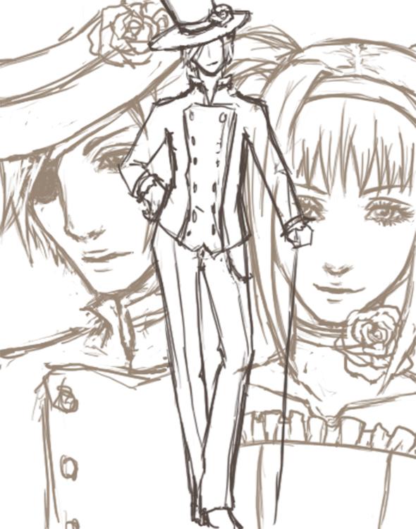 Tags: Anime, Ikanebi (Mangaka), Kuroshitsuji, Elizabeth Ethel Cordelia Midford, Ciel Phantomhive, Fanart, Black Butler