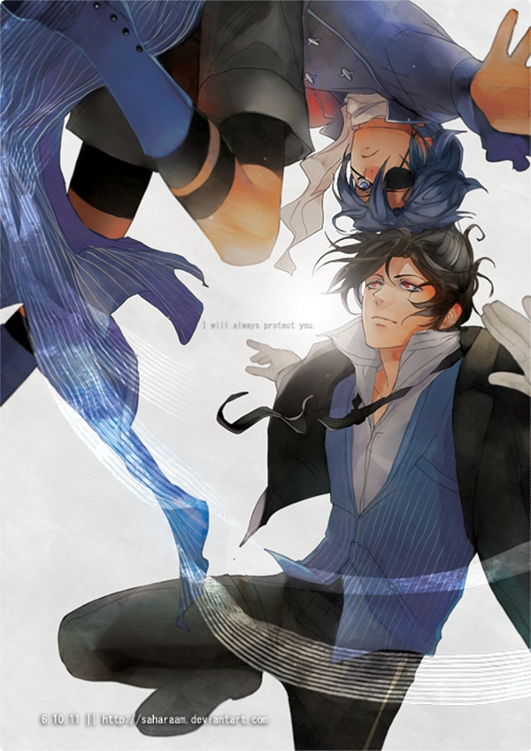 Tags: Anime, Saharaam, Kuroshitsuji, Ciel Phantomhive, Sebastian Michaelis, Mobile Wallpaper, deviantART, Black Butler
