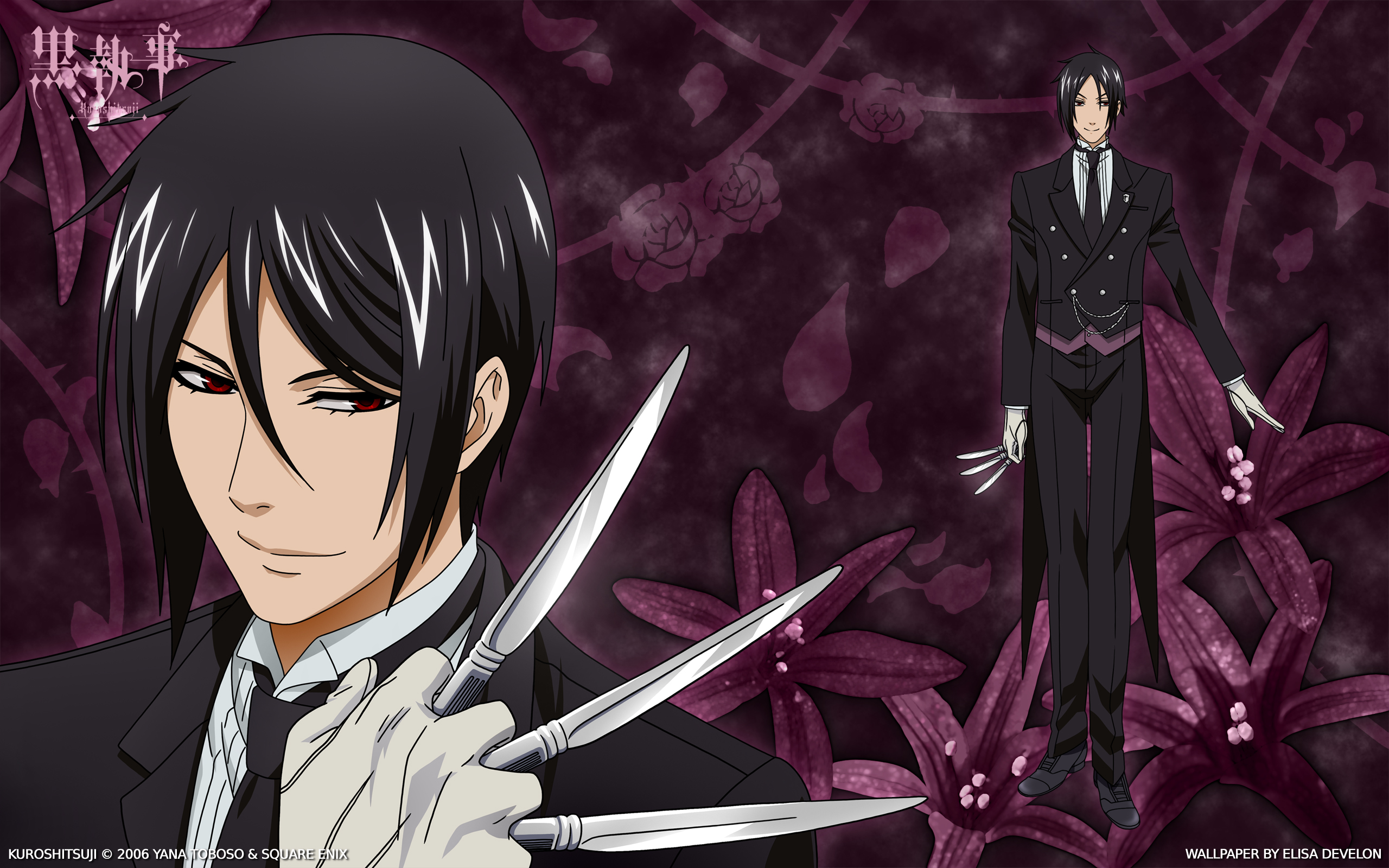 tags anime kuroshitsuji sebastian michaelis 2560x1600 wallpaper edited hd wallpaper