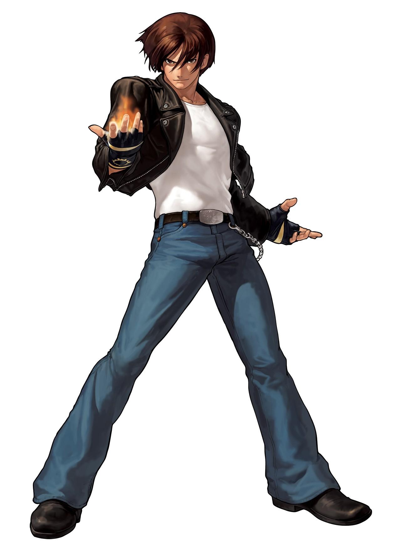 Anime Characters Leather Jacket : Kusanagi kyo king of fighters image  zerochan