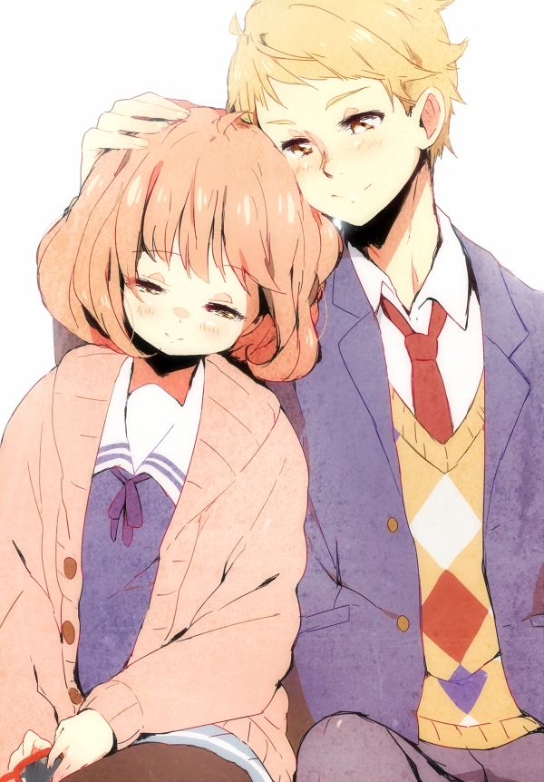Tags: Anime, Peachmaiden, Kyoukai no Kanata, Kanbara Akihito, Kuriyama Mirai, Mobile Wallpaper, Beyond The Boundary