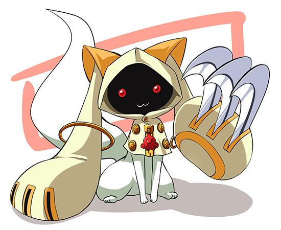 Tags: Anime, Crombaster, Mahou Shoujo Madoka☆Magica, Kyubee, Character Fusion, Taokaka (Cosplay), Fanart
