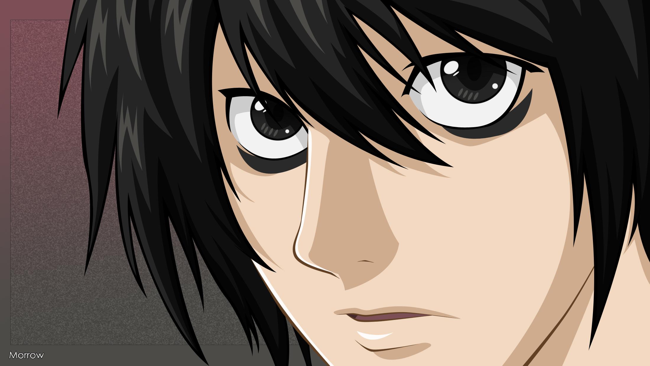 L lawliet image 1368228 zerochan anime image board - Manga death note ...