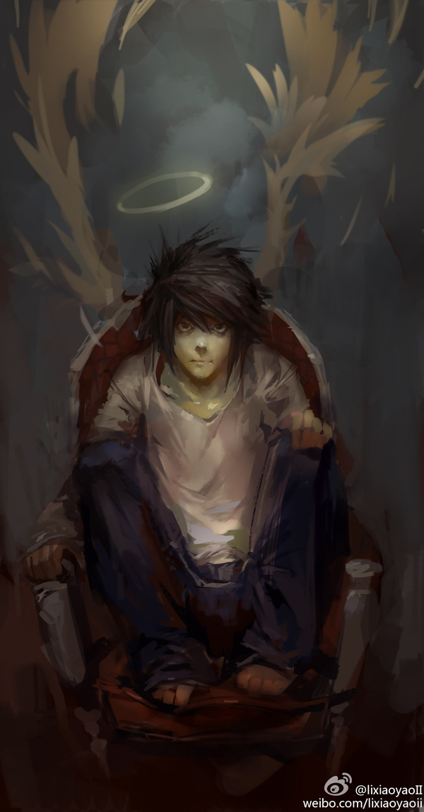 Tags: Anime, Lixiaoyaoii, DEATH NOTE, L Lawliet, Sketch