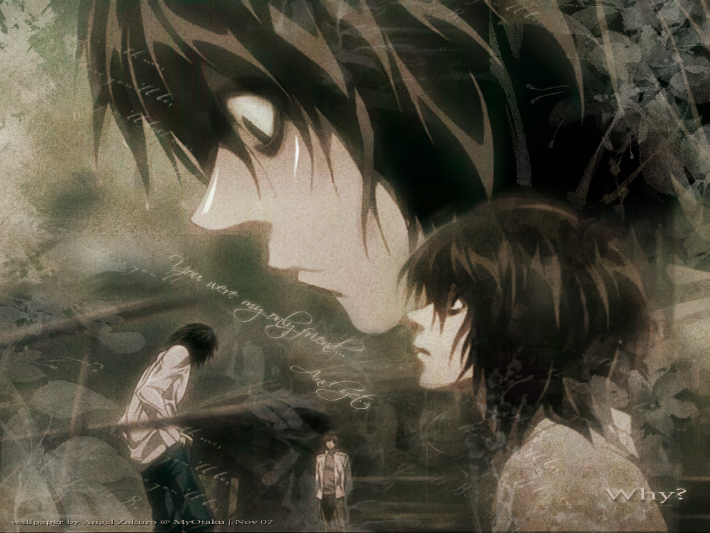 Tags Anime DEATH NOTE Yagami Raito L Lawliet Fanmade Wallpaper