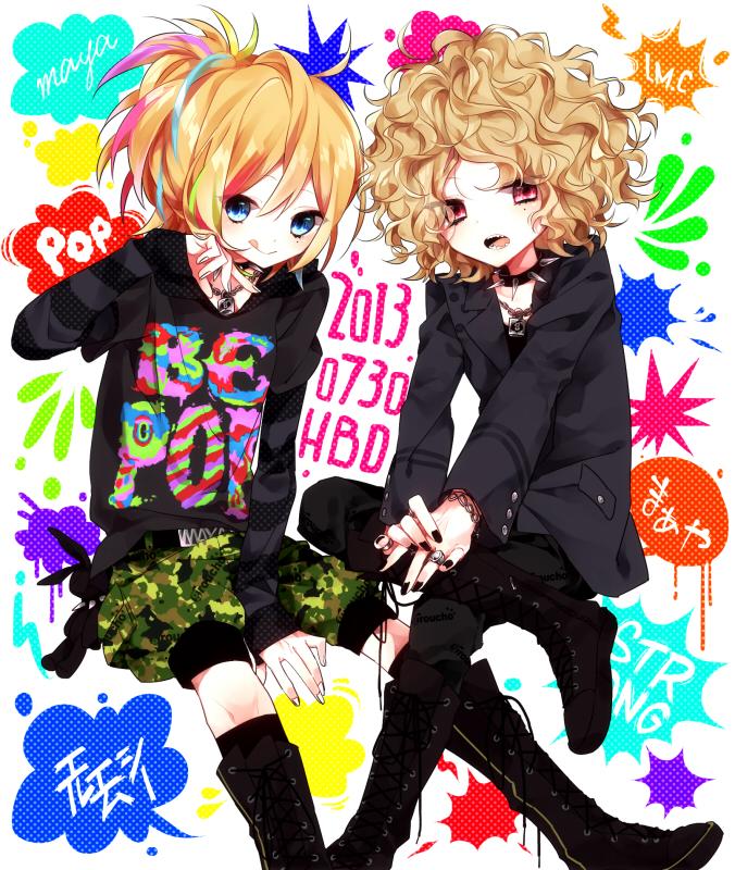 Tags: Anime, Shimogu, Aiji (LM.C), Maya (LM.C), J-Rock, Pixiv, Fanart, LM.C