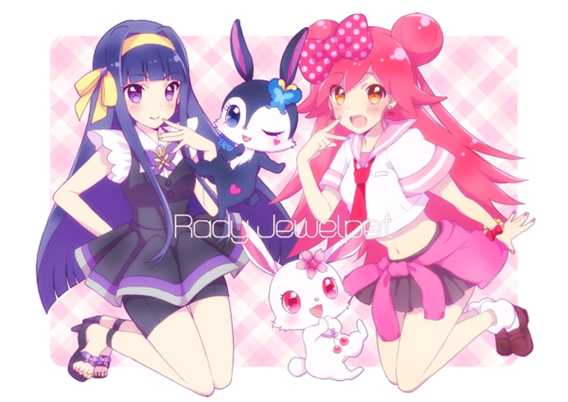 Jewelpet anime lady kiss