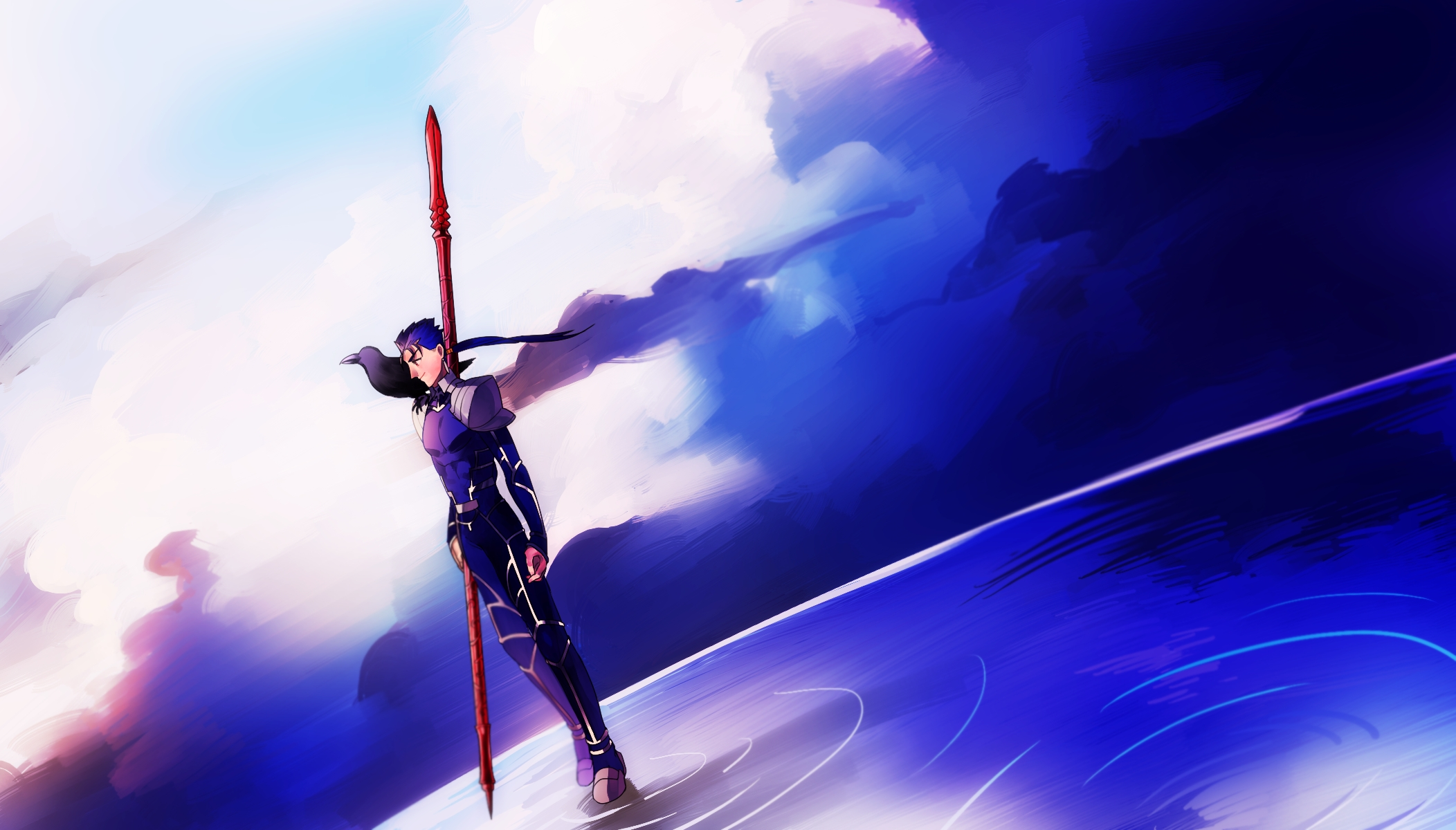 Lancer Fate Stay Night Wallpaper Zerochan Anime Image Board