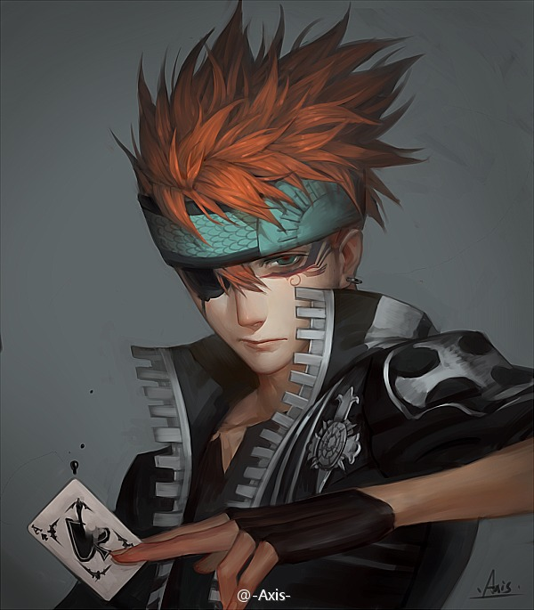 Tags: Anime, .Axis., D.Gray-man, Lavi, Ace (Card), Fanart