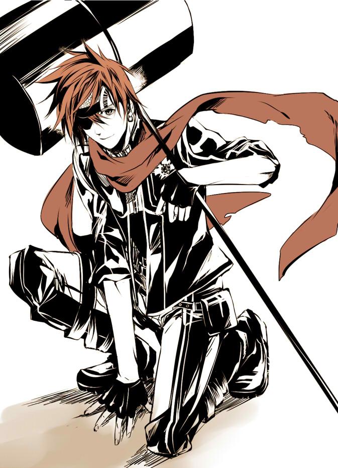 Tags: Anime, Aoi Shizuka, D.Gray-man, Lavi, Exorcist, Hammer (Weapon), Fanart, Pixiv, Mobile Wallpaper