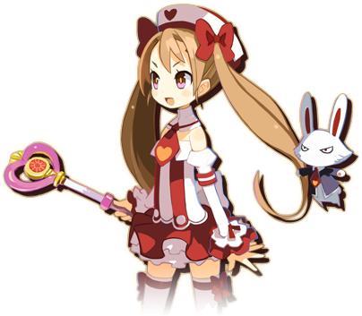 Tags: Anime, Harada Takehito, Nippon Ichi Software, Majo to Hyakkihei, Laviri Rarura Ra, PNG Conversion, Official Art, Cover Image