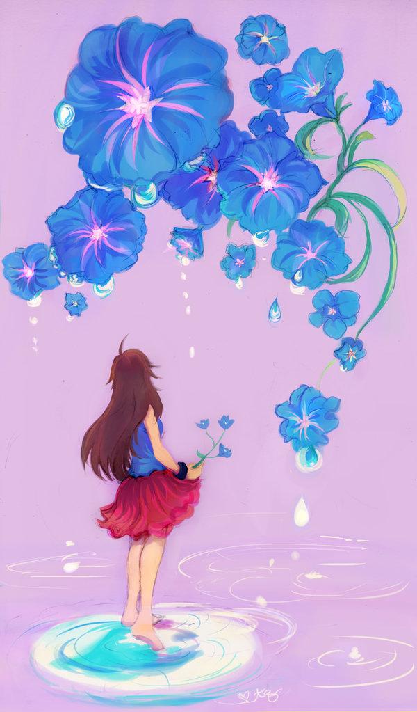 Tags: Anime, Turtlequeen, Pokémon, Leaf (Pokémon), Morning Glory, Mobile Wallpaper
