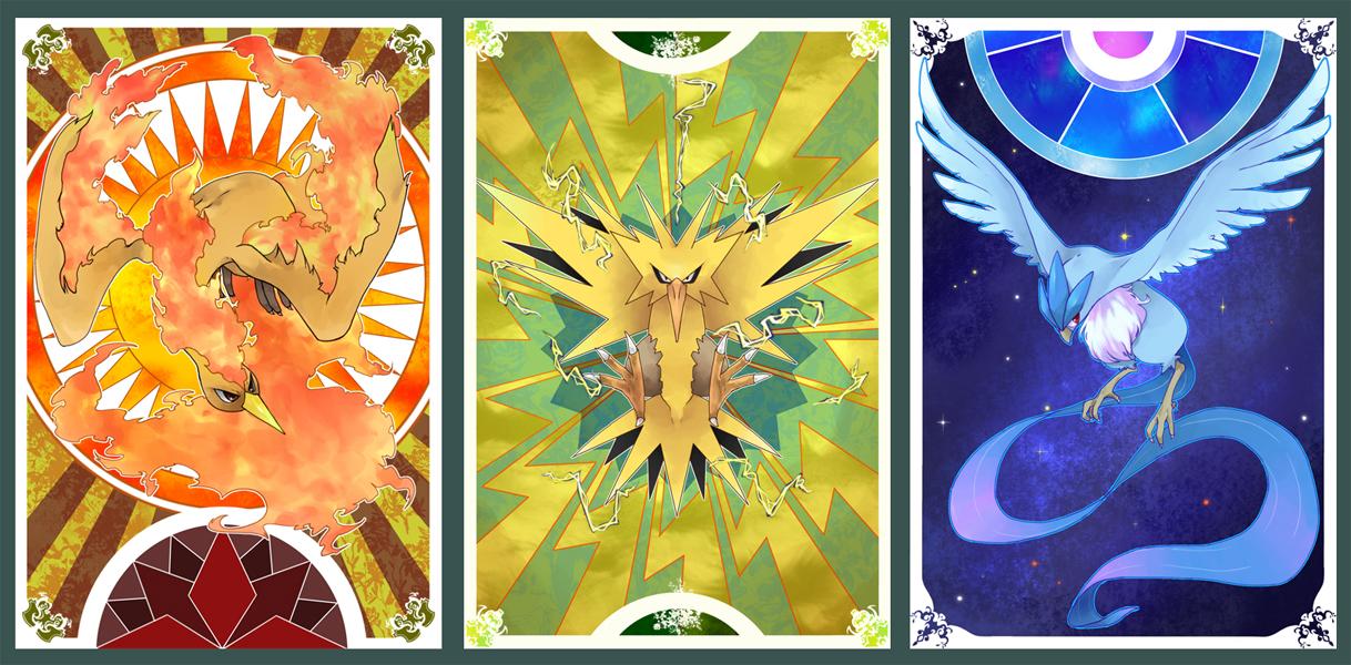 Legendary Birds Pok 233 Mon Zerochan Anime Image Board