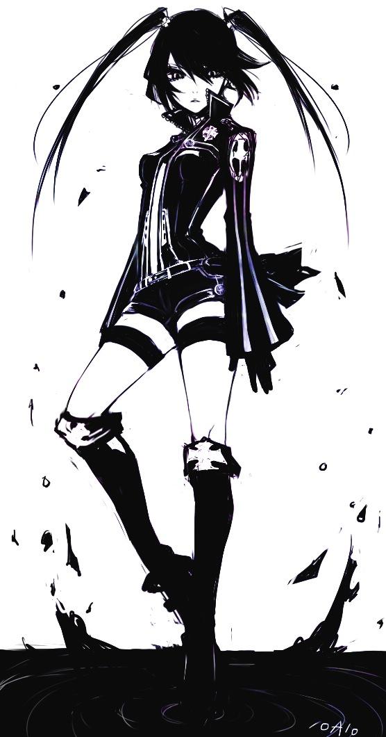 Tags: Anime, Honda Roaro, D.Gray-man, Lenalee Lee, Dark Boots (Innocence), Black Order Uniform, Walking On Water, Landing, Contrast, Slender, Splash, Pixiv, Fanart From Pixiv
