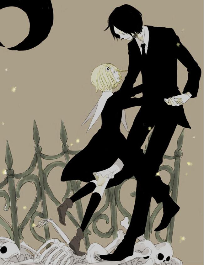 Tags: Anime, Tsuda, Lenore: The Cute Little Dead Girl, Ragamuffin, Lenore, Graveyard, Fanart, Pixiv