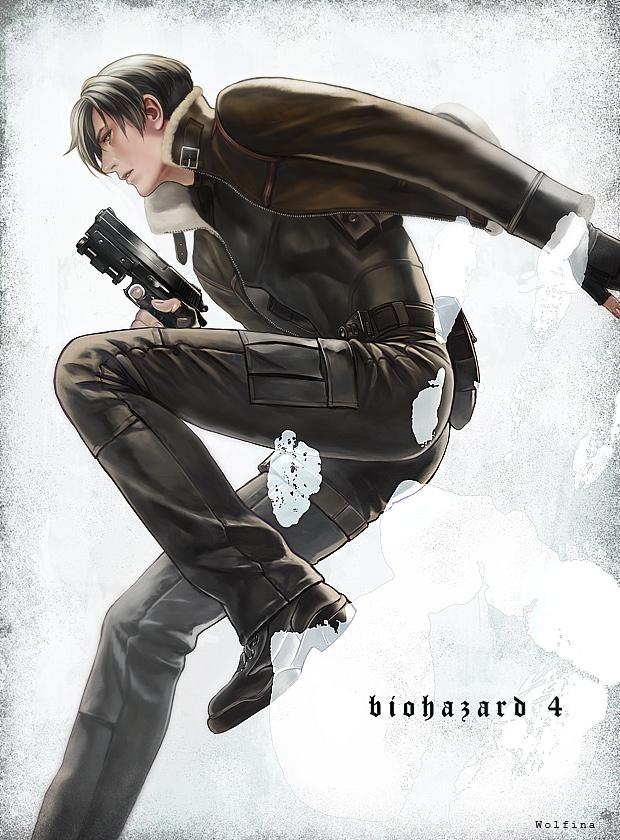 Tags: Anime, Wolfina, Resident Evil 4, Resident Evil, Leon Scott Kennedy, Observing, Parka, Fanart From Pixiv, Pixiv, Fanart