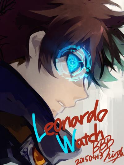 Tags: Anime, Matsunaka Hiro, Kekkai Sensen, Leonardo Watch, Goggles Around Neck, Fanart From Pixiv, Mobile Wallpaper, Pixiv, Fanart