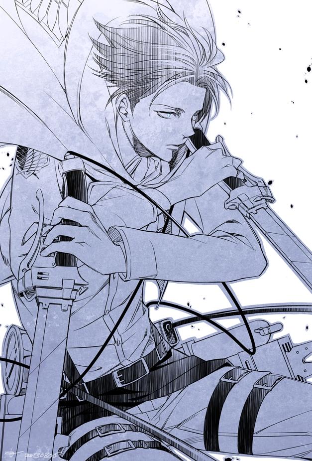 Tags: Anime, Pixiv Id 732682, Raven-ambrosia, Attack on Titan, Levi Ackerman, Mobile Wallpaper, Fanart