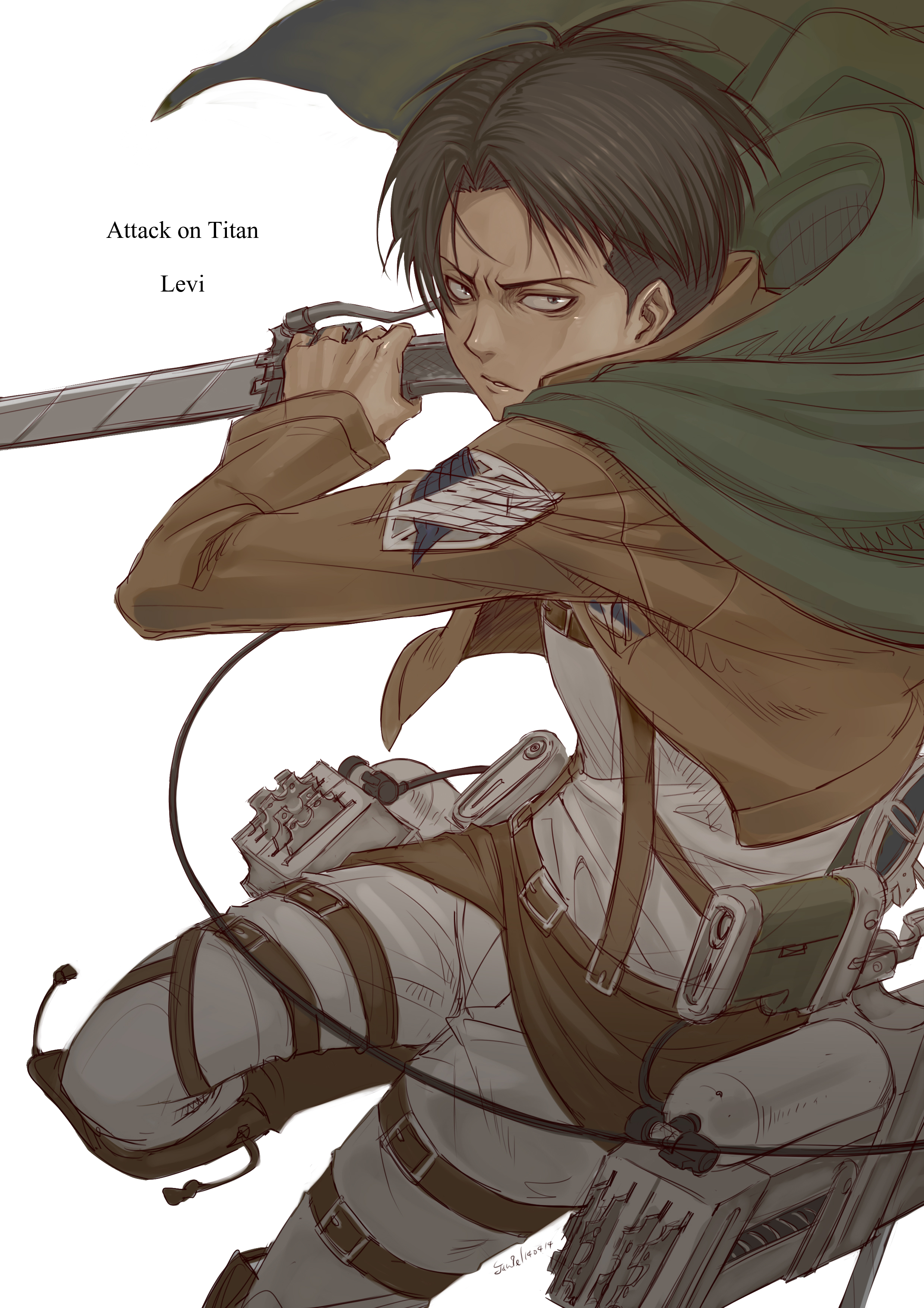 Levi Ackerman - Attack on Titan - Mobile Wallpaper ...