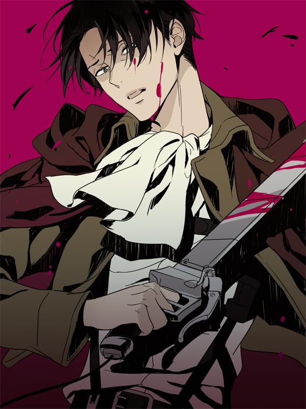 Tags: Anime, Matsuo Shin, Attack on Titan, Levi Ackerman, Pixiv, Revision, Fanart, Fanart From Pixiv