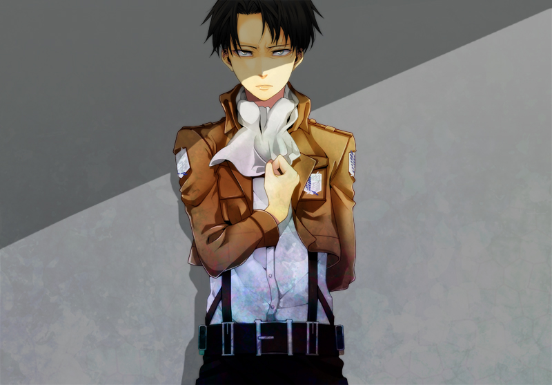 Tags: Anime, S ... Attack On Titan Levi Salute