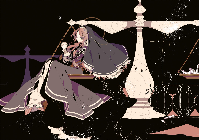 Tags: Anime, Shikimi, Q Pixiv: Original, Looking Back, Clock, Praying