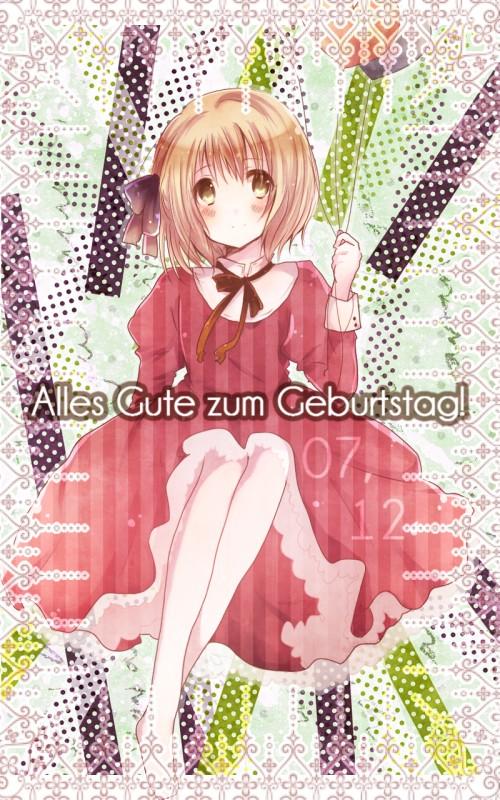 Tags: Anime, Ikakurage, Axis Powers: Hetalia, Liechtenstein, German Text, Fanart, Pixiv