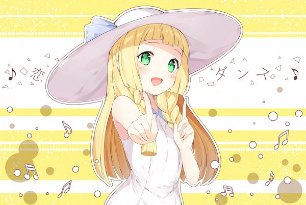 Tags: Anime, Chitetan, Pokémon Sun & Moon, Pokémon, Lillie (Pokémon), Music Note, Sun Hat