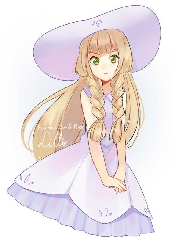 Tags: Anime, Llicornia, Pokémon Sun & Moon, Pokémon, Lillie (Pokémon), Tumblr, PNG Conversion, Mobile Wallpaper, Fanart