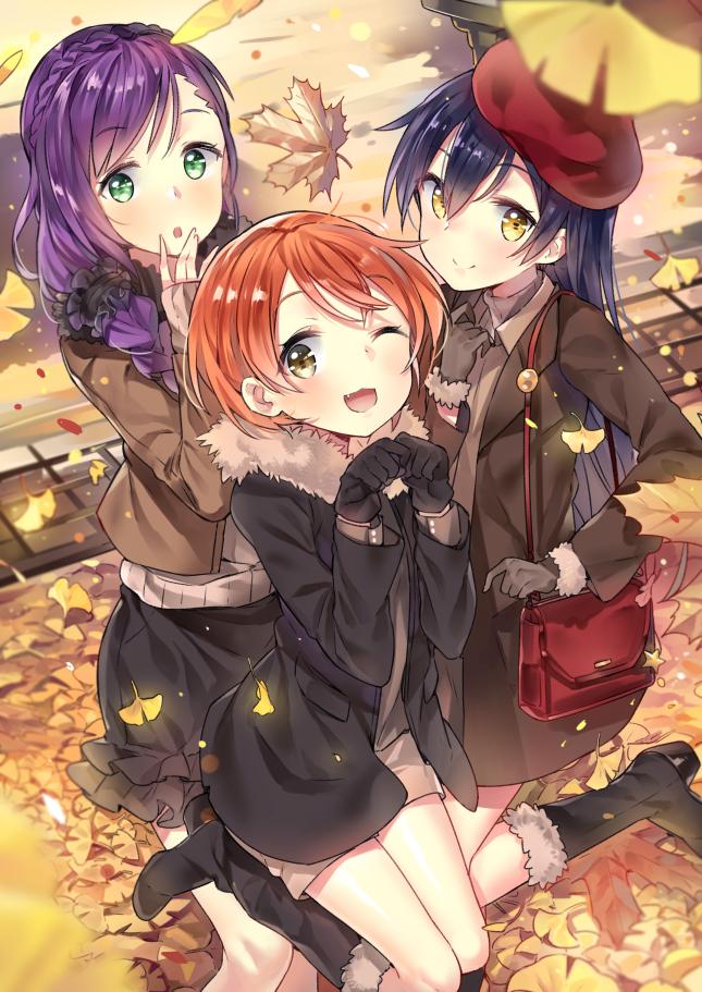 Tags: Anime, Cozyquilt, Love Live!, Toujou Nozomi, Sonoda Umi, Hoshizora Rin, PNG Conversion, Mobile Wallpaper, Lily White (Love Live!)