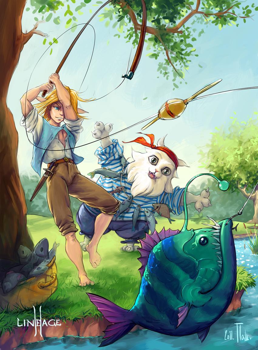 Картинки рыбаков аниме