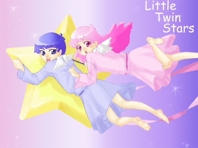 Tags: Anime, Sanrio, Lala (Sanrio), Kiki (Sanrio), Artist Request, Little Twin Stars
