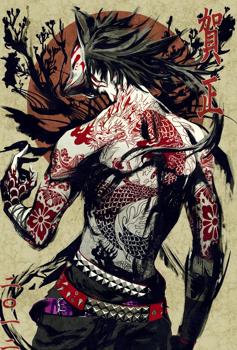 Fox mask zerochan anime image board for Male wallpaper designs