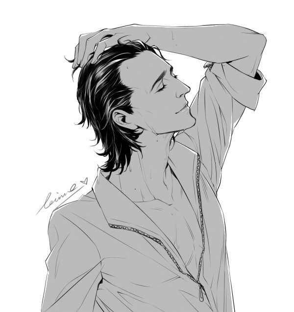 Tags: Anime, Levinehang (Artist), Loki Laufeyson, Thomas William Hiddleston, Marvel, Fanart
