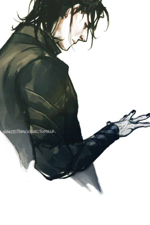 Tags: Anime, Marvel, Loki Laufeyson, Looking At Hands, Semi-realism, Black Nails, Wantstobelieve
