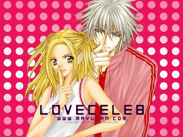 Tags: Anime, Shinjo Mayu, Love Celeb, Nakazono Kirara, Fujiwara Ginzou, Text: URL, 1024x768 Wallpaper